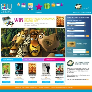 EW Cinemas Web Design